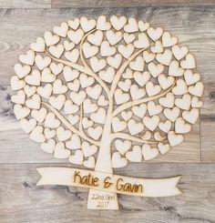 Hochzeitsgästebuch - Hochzeits -Baum Gästebuch - ein Designerstück von PerfectParcels bei DaWanda