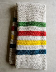 Make Your Own: Hudson's Bay-Inspired Crib Blanket — The Purl Bee | Apartment Therapy