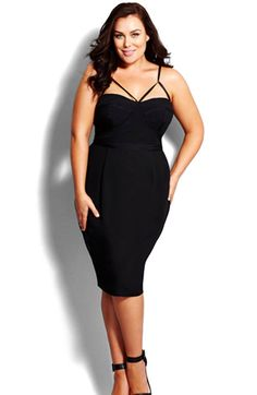 Main Image - City Chic 'Undress Me' Dress (Plus Size) - S$211