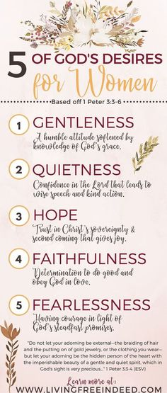 5 Of Gods Desires For Women