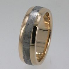 Awesome men's wedding band, featuring METEORITE. What!