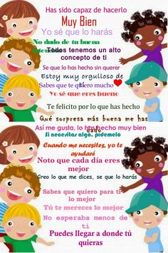 Palabras que animan Spanish Classroom, Teaching Spanish, Communication Positive, Kids Education, Best Mom, My Children, Kids And Parenting, To My Daughter, Learning