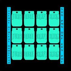 3c7880c45b89 Mason Jar SVG Gift Tag Sheets SVG Gift Tag by TurquoiseCraftBarn Gift Tags
