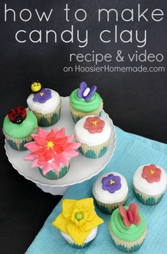 The PERFECT alternative to fondant! Learn how to make and use Candy Clay from Hoosier Homemade! Cupcake Boot Camp #Video