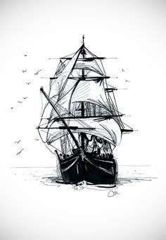 Ship tattoo concept