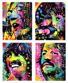 The Beatles Art by LoveVickyx, via Flickr