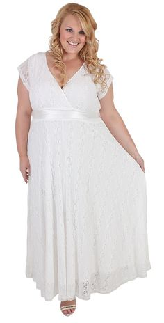 cbaab58f37b64 Divine white lace plus size dress from  curvaceousclothing  119  plussize  Sizes 18 to 28
