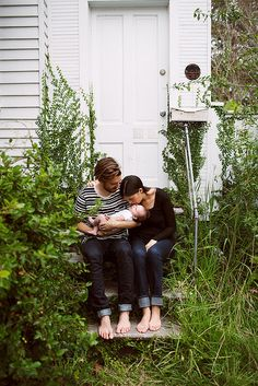 Love this unconventional photo setting.  Grown up weeds kinda have more character than a perfectly manicured lawn. Use whatcha got- and love it! Photo By Olivia Rae James