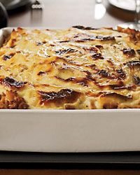 Lasagna-Style Baked Pennette with Meat Sauce. This is a hearty, meaty baked pasta & the ultimate make-ahead meal. It's actually better the next day.