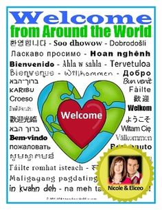 Back to School FREEBIE - Welcome from the World Mini-Poster - Great for welcoming English Learners and their families to school!