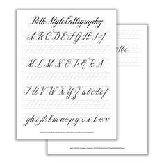Beth Style Basic Calligraphy Worksheet
