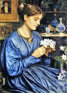 "Эдвард Джон Пойнтер. ""Портрет Агнессы Пойнтер"", 1867 Pre Raphaelite Paintings, Flowers, Art, Art Background, Kunst, Performing Arts, Royal Icing Flowers, Flower, Florals"