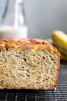 Hearty Paleo Banana Bread {GF, DF, No Added Sugar}