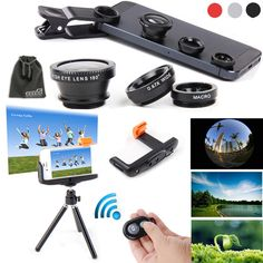 EEEKit 6in1 Kit for Samsung Galaxy S5/S4/S3 iPhone 6/iPhone 6 Plus iPhone 5S/5C/5/4S Samsung Galaxy Note 4/3/2 LG G3/G2 HTC One M8/M7 Google Nexus 4/5 Sony Xperia Z1/Z2 Motorala Moto X/G OnePlus One+ A0001 Cell Phone, Wireless Bluetooth Remote Camera Shutter Release Control + Extendable Self-portrait Telescopic Handheld Monopod + Adjustable Smartphone Adapter Phone Holder + Retractable Rotating Tripod Stand Mount Holder + Fish Eye Lens + Wide Angle Lens + Macro Lens + EEEKit Pouch…