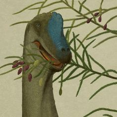 John Conway  Giraffatitan brancai  The dinosaur formerly known as Brachiosaurus brancai was possibly the best dinosaur. Experts disagree as to whether this is a flattering portrait.    Here it is eating plants, as was plant eating dinosaur's wont.