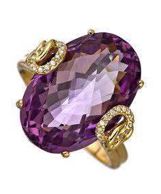 Nehita Amethyst and Diamond Ring, thejewelryvault