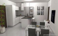 Cucina Domus con penisola e soggiorno Logo - DIOTTI A&F Arredamenti