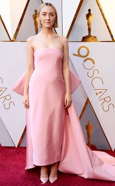 Oscars 2018 Best Dressed on the Red Carpet - Saoirse Ronan in Calvin Klein
