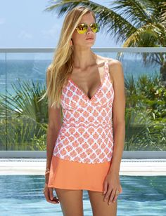 047d1c879c9e3 Nantucket Sound Embroidered Tankini Top. Cabana Life 50+ UPF Sun Protective  Clothing Sun Protective