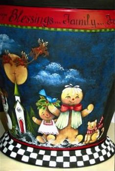 Rosemary West Seminar - Della and Company Diy Christmas Decorations Easy, Christmas Diy, Rosemary West, 6 Photos, Painted Pots, Tole Painting, Folk Art, Blessed, Display