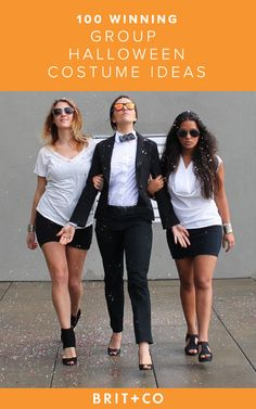 Grab your sexy ladies this Halloween and DIY fun throwback Gangnam Style costumes.
