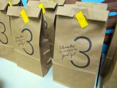 love & lion: ARI'S THIRD BIRTHDAY PARTY - favor bags printed on lunch sacks