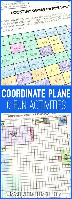 Coordinate Plane Activity Bundle Coordinate Plane Activity Bundles – fun and engaging activities for the math class! Graphing on the coordinate plane, locating ordered pairs, and interactive notebook pages. Math Teacher, Math Classroom, Teaching Math, Graphing Activities, Numeracy, Fun Activities, Grade 6 Math, Sixth Grade, Guided Reading Lesson Plans