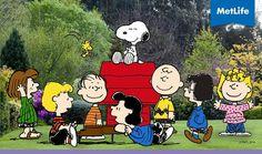 Snoopy and friends Metlife Snoopy, Charlie Brown, Joe Cool, Peanuts Gang, Cartoon Characters, Advertising, Happiness, Friends, Happy