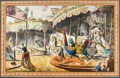 Barbara Jones (1912-1978), The Fairground, c.1940's, Lithograph, £200 unframed, Modern British Paintings and Prints - The Scottish Gallery, Edinburgh - Contemporary Art Since 1842