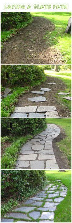 slate walkway More