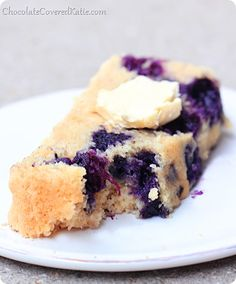 Blueberry Muffin Bread. No butter and you can use almond milk to make it vegan!