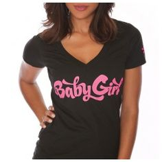 Shemar Moore Baby Girl V-Neck Women's Shirt Black/Pink