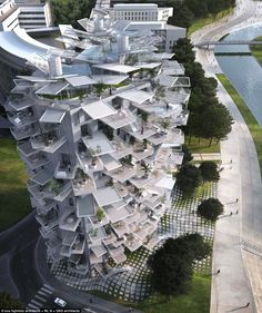 Tree in the sky: An apartment block unlike others, the building's balconies are inspired by tree branches, which draw natural light and crea...