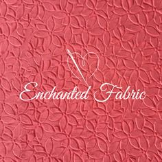 Double Knit Embossed Coral Fabric  Floral by EnchantedFabric