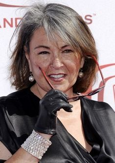 Roseanne Barr, letting her grey grow in
