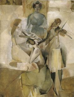 Sonata, 1911  Marcel Duchamp - I like how the colours bleed into one another and merge together