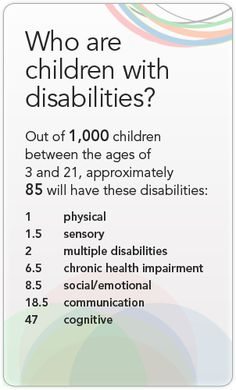 Who are the children with disabilities?