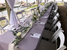 Rectangle Wedding Tables, Long Table Wedding, Centerpieces, Table Decorations, Garland, Table Settings, Furniture, Home Decor, Decoration Home