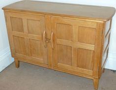 Ercol light elm sideboard, dresser base, arts & crafts style, dining room,