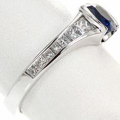 Design 1956 - Knox Jewelers - Minneapolis Minnesota - Sapphire Engagement Rings - Sapphire, Half Bezel, Princess Channel - Large Image