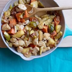 Chicken, Sweet Potato, and Apple Skillet