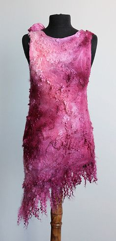 #nuno felted dress
