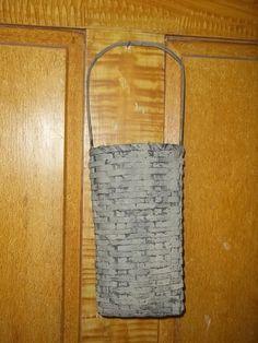 Primitive Distressed Basket Whitewashed etsy 318 by thefarmladyscupboard on Etsy