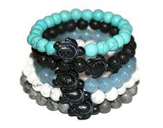 Gemstone Bracelets Turtle Bracelet Stacking Bracelet for Men