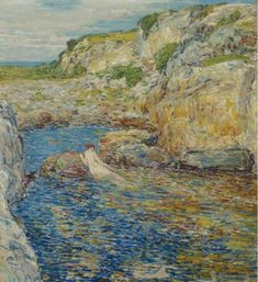 Rockweed Pool 1902   Frederick Childe Hassam   oil painting