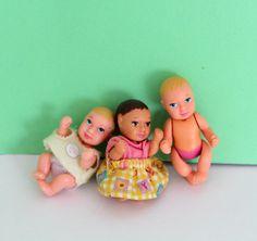 Original Mattel Barbie drei  Babys von der Schwangeren Happy Family Midge