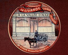 Label for Cheese from Livarot 'A la Vallee d'Auge', early 20th century (color litho)