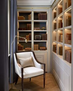 Cozy Reading Area Design Ideas You Must See – Home Office Design Corner Home Library Design, Home Office Design, Home Office Decor, Home Interior Design, Interior Architecture, Home Decor, Office Style, Office Nook, Home Library Decor