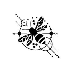 Beeometric Tattoo – Semi-Permanent Tattoos by inkbox™ Beeometric by Rafael Tato – A Geometric Bee Tattoo for bee keepers/lovers. Black Tattoos, Body Art Tattoos, Small Tattoos, Sleeve Tattoos, Bee Outline, Honey Bee Tattoo, Bumble Bee Tattoo, Skull Tatto, Small Bees