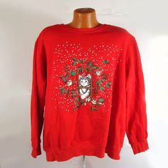 Ugly Christmas Sweater Vintage Sweatshirt by purevintageclothing
